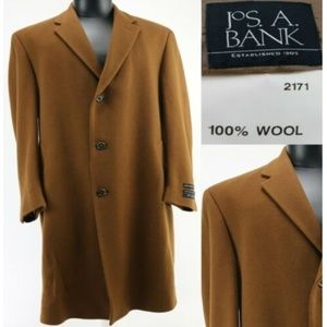 Jos A. Bank Men's Executive Trench Coat Sz 44L